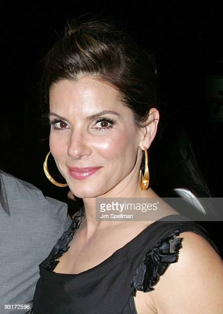 Actress Sandra Bullock attends The Blind Side premiere after party on November 17 2009 in New York City