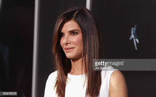 Actress Sandra Bullock attends the Gravity premiere at AMC Lincoln Square Theater on October 1 2013 in New York City