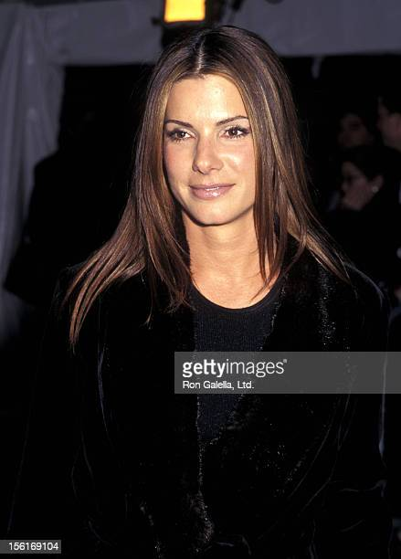 Actress Sandra Bullock attends The Metropolitan Museum's Costume Institute Gala Monographic Exhibition 'Gianni Versace' on December 8 1997 at The...