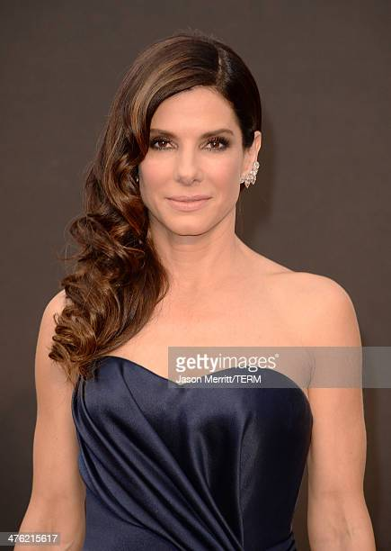 Actress Sandra Bullock attends the Oscars held at Hollywood Highland Center on March 2 2014 in Hollywood California