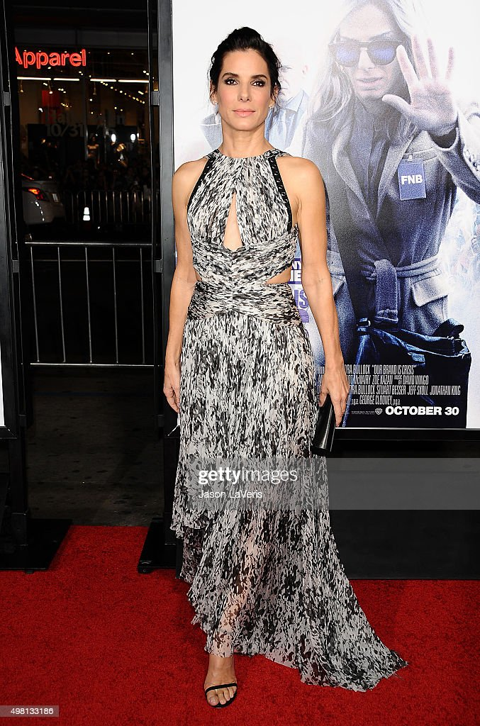 Actress Sandra Bullock attends the premiere of 'Our Brand Is Crisis' at TCL Chinese Theatre on October 26, 2015 in Hollywood, California.
