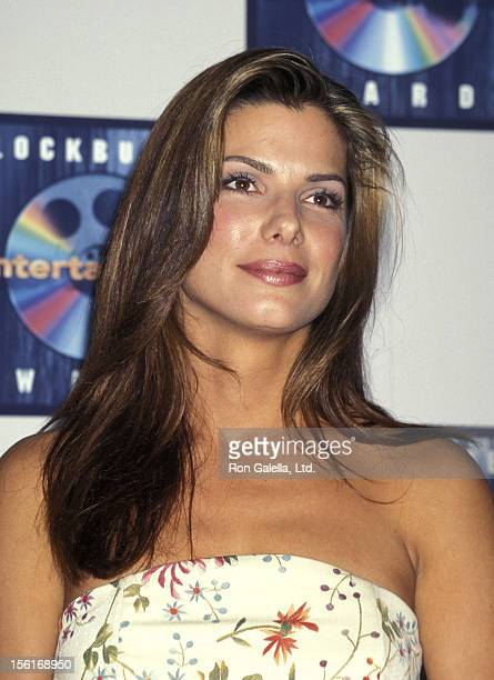 Actress Sandra Bullock attends the Third Annual Blockbuster Entertainment Awards on March 11 1997 at Pantages Theatre in Hollywood California