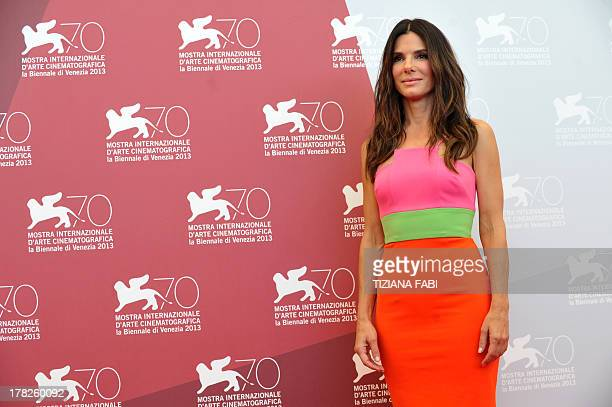 US actress Sandra Bullock poses during the photocall of the movie 'Gravity' presented out of competition on the opening day of the 70th Venice Film...
