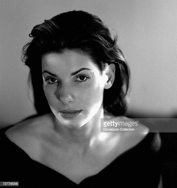 Actress Sandra Bullock poses for a photo shoot in 1993 at her residence in Los Angeles California