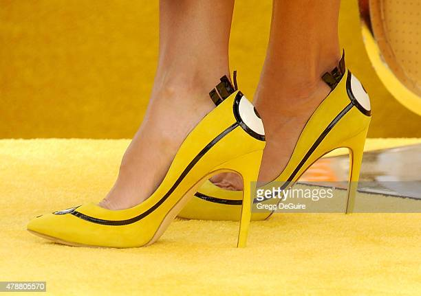 Actress Sandra Bullock shoe detail arrives at the premiere of Universal Pictures and Illumination Entertainment's 'Minions' at The Shrine Auditorium...