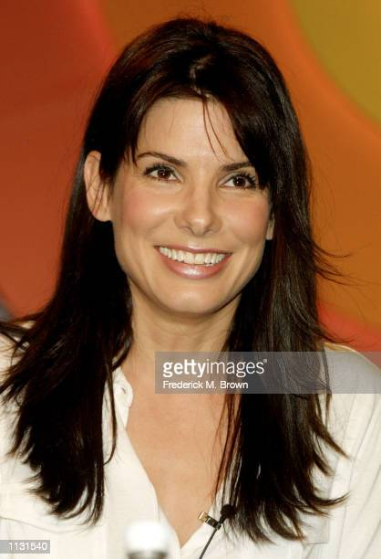Actress Sandra Bullock speaks during the panel discussion segment of the ABC Television Press Tour at the Ritz Carlton Hotel on July 17 2002 in...