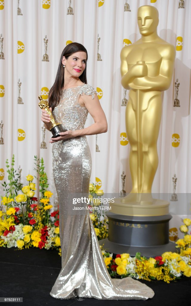 Actress Sandra Bullock, winner Best Actress award for 'The Blind Side,' poses in the press room at the 82nd Annual Academy Awards held at Kodak Theatre on March 7, 2010 in Hollywood, California.