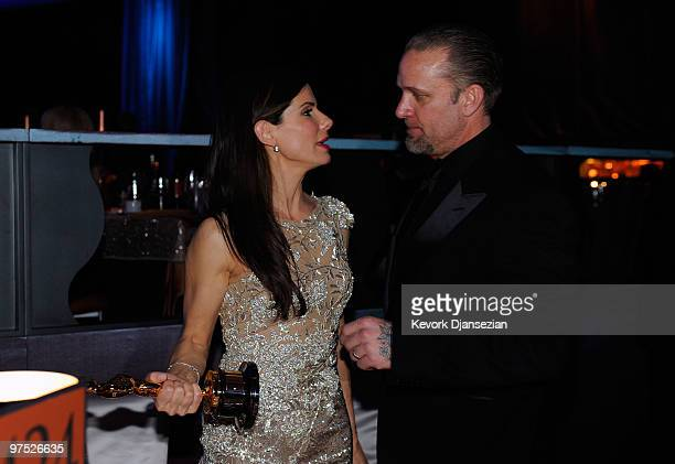 Actress Sandra Bullock, winner Best Actress award for 'The Blind Side,' and husband Jesse James attend the 82nd Annual Academy Awards Governor's Ball...