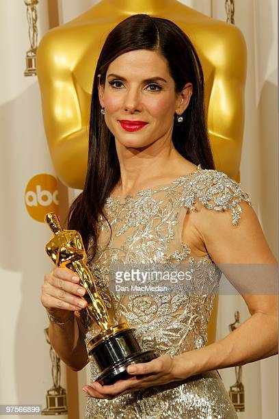Actress Sandra Bullock winner for Best Actress for The Blind Side poses in the press room at the 82nd Annual Academy Awards held at the Kodak Theater...