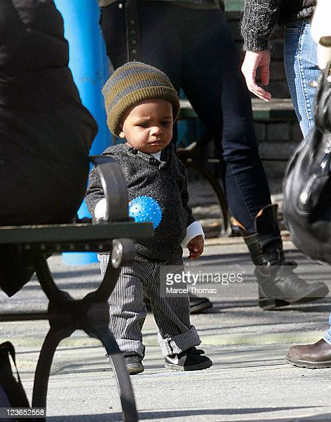 Actress Sandra Bullock's son Louis Bullock is seen on the streets of Manhattan on March 20, 2011 in New York City.