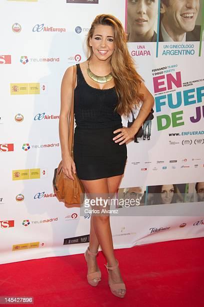 Actress Sandra Cervera attends 'En Fuera De Juego' premiere at Callao cinema on May 29 2012 in Madrid Spain