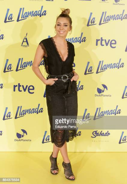Actress Sandra Cervera attends the 'La Llamada' premiere at Capitol cinema on September 26 2017 in Madrid Spain