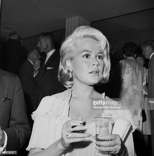Actress Sandra Dee attends a dinner party in Los Angeles California
