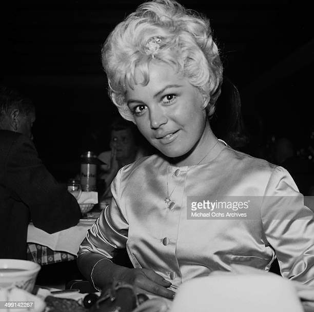 Actress Sandra Dee attends a party in Los Angeles California