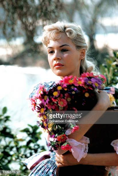 Actress Sandra Dee poses for a photo on October 3 1957 in Los Angeles California