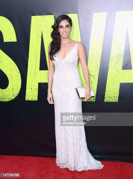 Actress Sandra Echeverria arrives at Premiere of Universal Pictures' Savages at Westwood Village on June 25 2012 in Los Angeles California