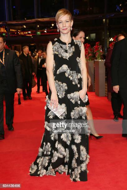 Actress Sandra Hueller attends the 'Django' premiere during the 67th Berlinale International Film Festival Berlin at Berlinale Palace on February 9...