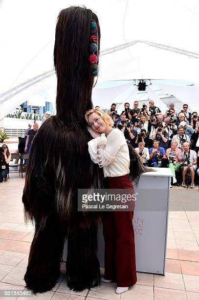 Actress Sandra Hueller attends the 'Toni Erdmann' photocall during the 69th annual Cannes Film Festival at the Palais des Festivals on May 14 2016 in...