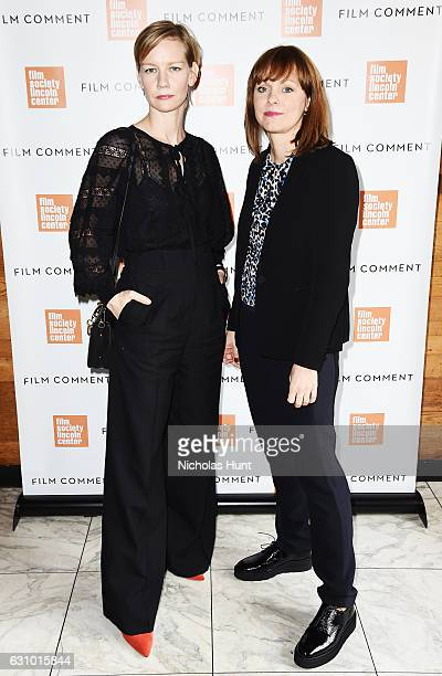 Actress Sandra Huller and Director Maren Ade attends the 2016 Film Society Of Lincoln Center Film Comment Luncheon at Scarpetta on January 4 2017 in...