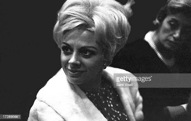 Actress Sandra Milo at the Opera on January 121966 in New York New York