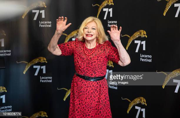 Actress Sandra Milo attends the 'Un Nemico Che Ti Vuole Bene' photocall during the 71st Locarno Film Festival on August 8 2018 in Locarno Switzerland