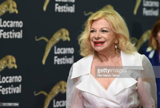 Actress Sandra Milo attends the 'Un Nemico Che Ti Vuole Bene' premiere during the 71st Locarno Film Festival on August 7 2018 in Locarno Switzerland
