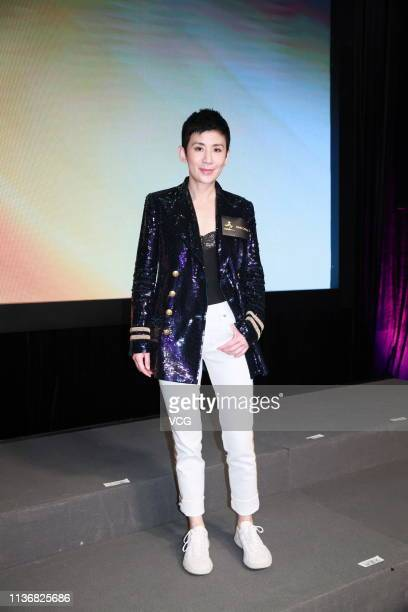 Actress Sandra Ng Kwanyue attends One Cool Film press conference on March 19 2019 in Hong Kong China