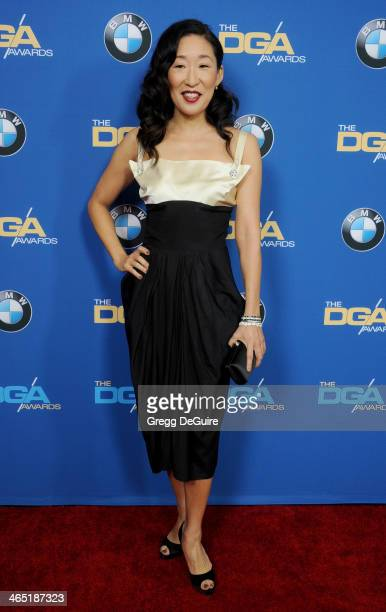 Actress Sandra Oh arrives at the 66th Annual Directors Guild Of America Awards at the Hyatt Regency Century Plaza on January 25 2014 in Century City...