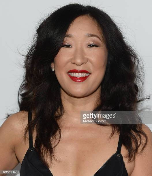 Actress Sandra Oh arrives at the 'Grey's Anatomy' 200th Episode Celebration at The Colony on September 28 2013 in Los Angeles California