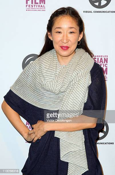 Actress Sandra Oh arrives for the 27th Annual Los Angeles Asian Pacific Film Festival Opening Night at the Director's Guild of America on April 28...