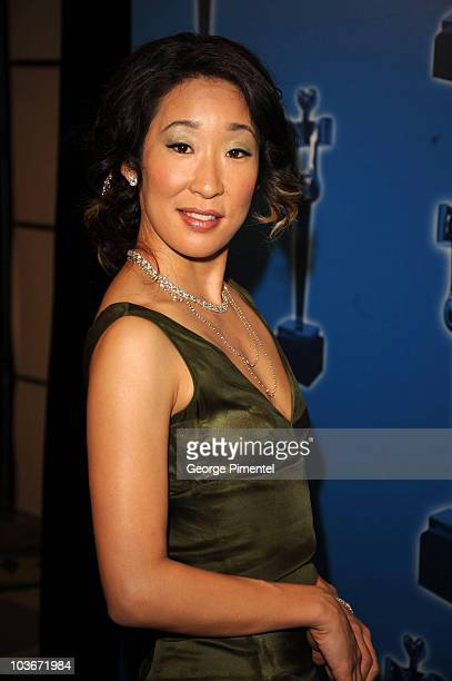 Actress Sandra Oh attends and hosts the 2008 Annual Genie Awards at the Metro Toronto Convention Centre on March 3, 2008 in Toronto, Canada.