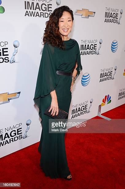 Actress Sandra Oh attends the 44th NAACP Image Awards at The Shrine Auditorium on February 1 2013 in Los Angeles California