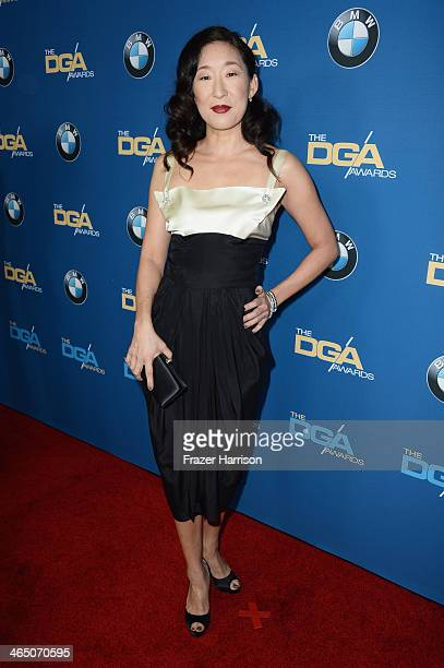 Actress Sandra Oh attends the 66th Annual Directors Guild Of America Awards held at the Hyatt Regency Century Plaza on January 25 2014 in Century...