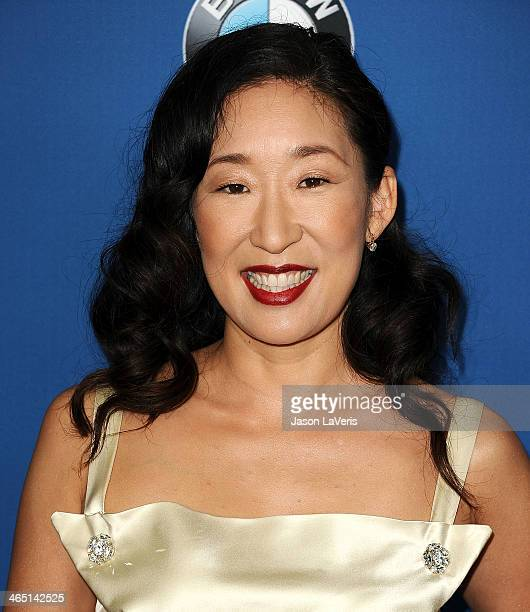 Actress Sandra Oh attends the 66th annual Directors Guild of America Awards at the Hyatt Regency Century Plaza on January 25 2014 in Century City...