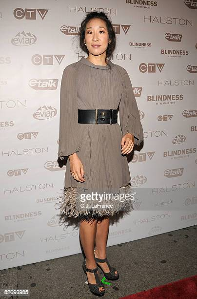 Actress Sandra Oh attends the Blindness premiere after party during the 2008 Toronto Internation Film Festival held at CTV Headquarters on September...