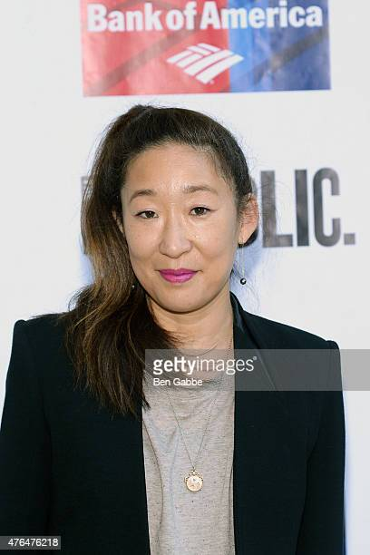 Actress Sandra Oh attends The Public Theater's Annual Gala at Delacorte Theater on June 9 2015 in New York City