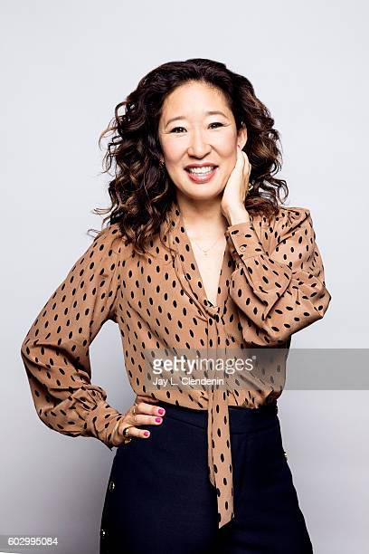 Actress Sandra Oh of Catfight' poses for a portraits at the Toronto International Film Festival for Los Angeles Times on September 9 2016 in Toronto...
