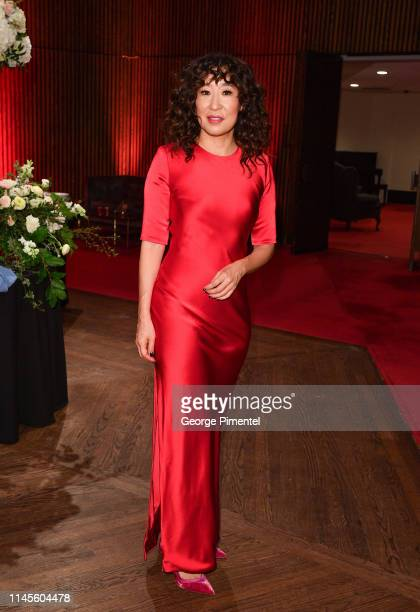 Actress Sandra Oh recipient of the National Arts Centre Award arrives at the Governor General's Performing Arts Awards at the National Arts Centre on...