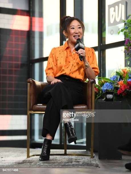 Actress Sandra Oh visits Build Series to discuss 'Killing Eve' at Build Studio on April 5 2018 in New York City