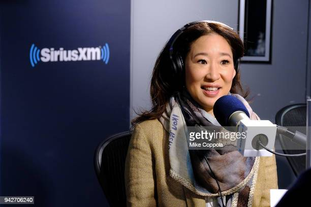 Actress Sandra Oh visits SiriusXM Studios on April 6 2018 in New York City