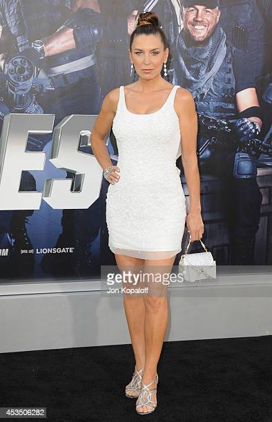 Actress Sandra Vidal arrives at the Los Angeles Premiere 'The Expendables 3' at TCL Chinese Theatre on August 11 2014 in Hollywood California