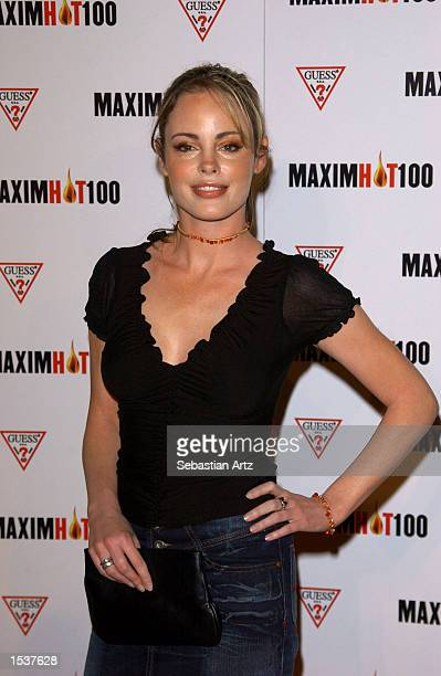 Actress Sandra West arrives at Maxim's Hot100 party April 25 2002 in Los Angeles CA