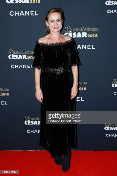Actress Sandrine Bonnaire attends the 'Cesar Revelations 2018' Party at Le Petit Palais on January 15 2018 in Paris France