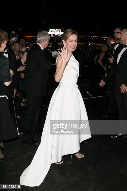 Actress Sandrine Bonnaire is spotted during the 70th annual Cannes Film Festival on May 17 2017 in Cannes France