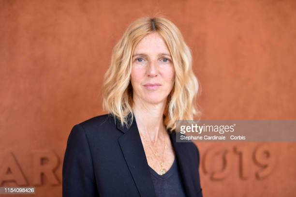 Actress Sandrine Kiberlain attends the 2019 French Tennis Open Day Twelve at Roland Garros on June 06 2019 in Paris France