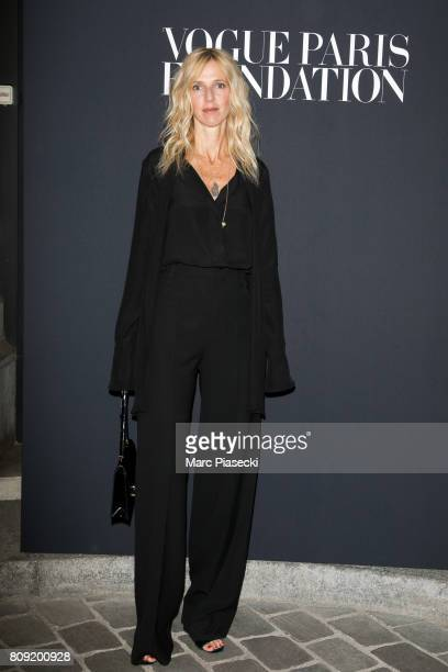 Actress Sandrine Kiberlain attends Vogue Foundation Dinner during Paris Fashion Week as part of Haute Couture Fall/Winter 20172018 at Musee Galliera...
