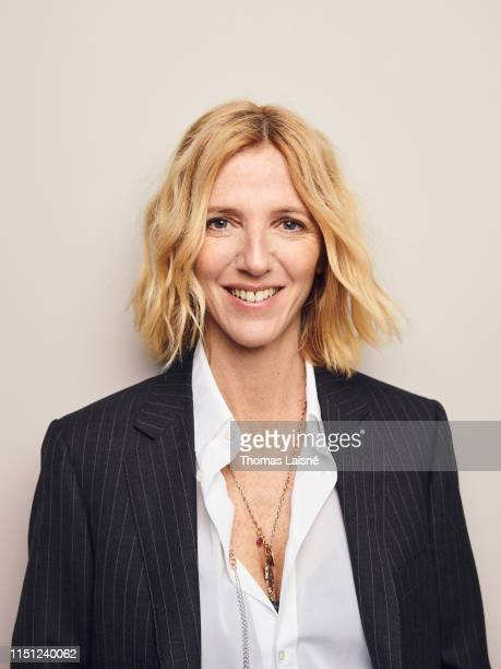 Actress Sandrine Kiberlain poses for a portrait on February 2019 in Paris France