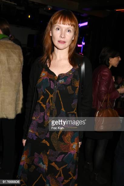 Actress Sandrine Le Berre attends the 23 eme Ceremonie des Lauriers de La Radio et de La Television at Palace Theater on February 12 2018 in Paris...