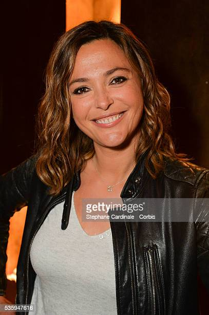 Actress Sandrine Quetier attends the book signing and cocktail party for La Fille Au 22 by AnnaVeronique El Baze at Buddha Bar on May 30 2016 in...