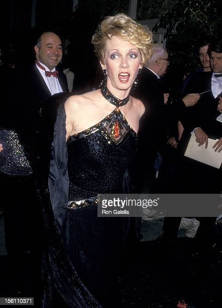 Actress Sandy Duncan attends the 45th Annual Golden Globe Awards on January 23 1988 at Beverly Hilton Hotel in Beverly Hills California